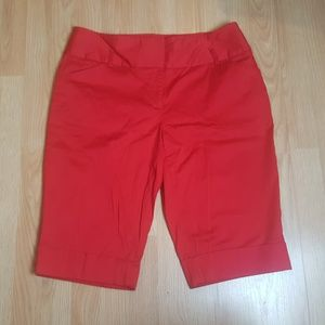 Cato Cuffed Red Shorts